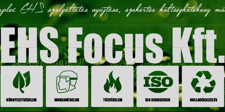 logo, EHS, EHS Focus, komplex szolgáltatás, engedélyeztetés, munkavédelem, tűzvédelem, környezetvédelem